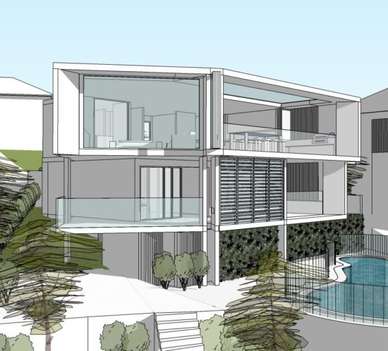 Hunters Hill House _04 by StudioJLA - Rear view