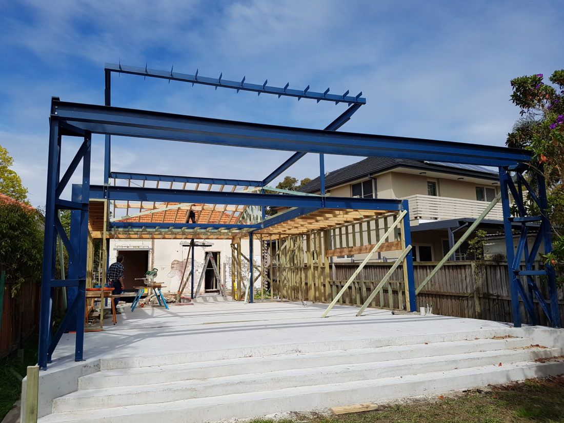 Five-Dock-Residence-Steel-Framing